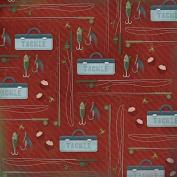 Karen Foster 30cm X 30cm Scrapbook Paper, 25 Sheets, Fishing Poles