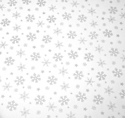 MHA UK branded Snowflake cellophane SHEET 2m perfect for all gift wrapping purposes Festive
