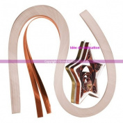 Laminated Copper Set of quilling paper 100 Strips, 6 mm x 21 cm, 105 g/m2