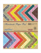 Paperhues Decorative Scrapbook Papers A4 Pad, 60 Sheets, Assorted Colours. Forever Collection. Specialty Handmade Origami Papers for Scrapbooking, Cards, Gift Wrap, Decoupage, Art & Craft.