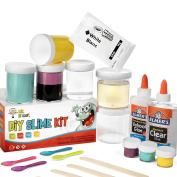 DIY Slime Set by Mr. E=mc2, 2nd Edition | BRAND NEW Slime Starter Kit for Boys Girls | All Inclusive w Easy NO FAIL Instructions and Slime Stuff Supplies | 4+ Different Slime Recipes, Slime Making Kit