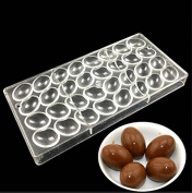 VAK Valentine's Day Chocolate Egg shaped Polycarbonate Chocolate Moulds Baking Dish Pan Bakeware Tray Pastry Candy Cake Pie Dessert Making Mould Kitchen Baking Supplies - 14.5x28x2.5cm