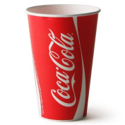 Thali Outlet - 50 x Coke / Coca Cola Paper Cups 16oz / 400ml Fast Food Takeaways Restaurant Events Birthdays Weddings Parties All Occasions
