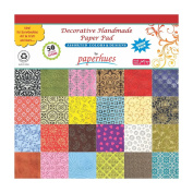 Paperhues Decorative Scrapbook Papers 30x30cm Pad, 50 Sheets, Assorted Colours. Forever Collection. Specialty Handmade Origami Papers for Gift Wrap, Scrapbooking, Greeting Cards, Covers, Art And Craft