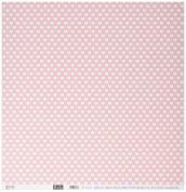 """Artemio Collection Baby Girl """"Hearts"""" Scrapbooking Sheet, Pack of 10, Multi-Colour"""