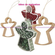 2 x Angel for Paper, Quilling Paper Mache, 8 and 11 cm