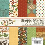Simple Stories Double-Sided Paper Pad 15cm x 15cm 2-Pumpkin Spice