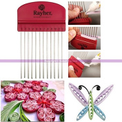 Quilling CoMB Tool with 12 Teeth, Height 10.5 cm x Width 6.5 cm