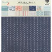 Authentique Paper Paper Pad 30cm x 30cm 24 kg-Seaside