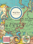 Cavallini Papers 4-Sheet Wrap Pack, Vintage Maps