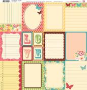 My Little Shoebox 50024 30cm by 30cm Secret Garden Collection, La Petite Pattern Paper