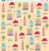 My Little Shoebox 50041 30cm by 30cm Coming Home Collection, Town Square Pattern Paper