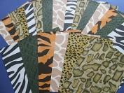 SALE - 24 Assorted Sheets of Safari Print Paper | Papercraft Paper Packs