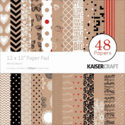 Kaiser Craft 30cm x 30cm Mix and Match Paper Pad