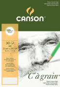 Canson C a Grain 125gsm Lightweight drawing paper, fine grain texture, A4 pad including 30 sheets