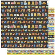 RAYHER 79874000 Scrapbooking Paper Vacation Necessities, 30,5x305cm, 190g/m2