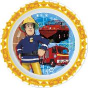 UNBRANDED 8018199 Fireman Sam plate 22.5 x 22.2 x 2 cm Plastic Orange