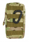 LefRight Tactical Molle Accessory EDC Pocket Pouch Sundries Waist Bag with Belt Loop + Carabiner, Camouflage