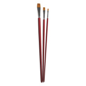 RAYHER Hobby 37067000 Brush Set, Assorted, FSC 100%, Synthetic, Brown, 4 x 0.6 x 0.11 cm