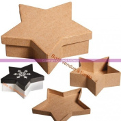 5 Star Shaped Board with Lid Box FSC Recycled 100%, 13x13x4 cm