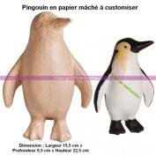 Paper Mache Penguin, FSC recycled 100%, 15,5x9,5x225cm, Customise