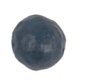Craft Outlet Papier Mache Blue Balls, Multi-Colour, 7.6cm , 6-Piece