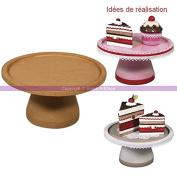 Raised Tray Paper Mache Cake, Diameter 22 cm Height 11 cm, to Customise
