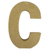 RAYHER - 71772000 - Pappmaché Letter C FSC Recycled 100%, 15 x 10.5 x 3 cm