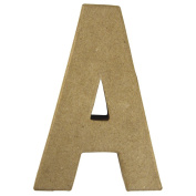 RAYHER - 71770000 - Pappmaché Letter A FSC Recycled 100%, 15 x 10.5 x 3 cm