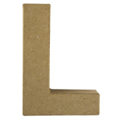 RAYHER - 71720000 pappmach Transfer Letter L FSC 100 %Recycled 15 x 10.5 x 3 cm