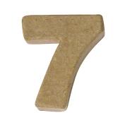 RAYHER - Pappmaché-Mini-Zahlen, 4x15cm, 7