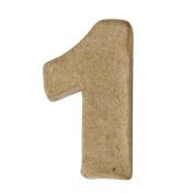 RAYHER - Pappmaché-Mini-Zahlen, 4x15cm, 1