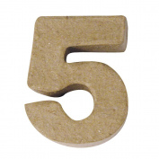 RAYHER - Pappmaché-Mini-Zahlen, 4x15cm, 5