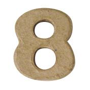 RAYHER - Pappmaché-Mini-Zahlen, 4x15cm, 8