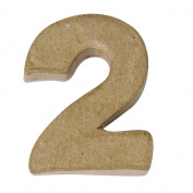 RAYHER - Pappmaché-Mini-Zahlen, 4x15cm, 2
