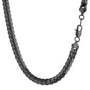 PROSTEEL Men Curb Cuban Chain Necklace 8MM 5.5m6.1m6.7m7.3m7.9m8.5m - Black /316L Stainless Steel/18K Gold Plated Colour
