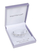 Equilibrium Silver Plated Bangle - A Mother Holds Their Childs Hand For A While..And Their Hearts For Ever by Joe Davies