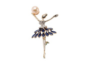JYX 10x13mm Pink Freshwater Pearl Brooch Pin- Corsage Wedding Bouquet Christmas Gift