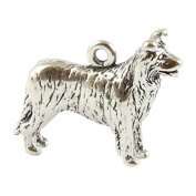 Sterling Silver Border Collie Charm