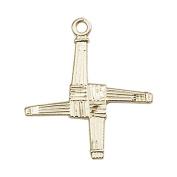 14ct Gold St. Brigid Cross Medal. Patron Saint of Infants/Ireland
