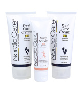 Nordic Care Foot Care Cream 180ml (Pack of 2) Plus Body Lotion