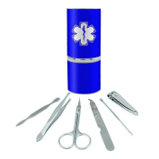 Star Of Life Medical Health EMT RN MD Stainless Steel Manicure Pedicure Grooming Beauty Care Travel Kit