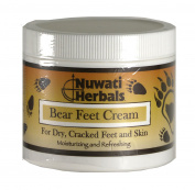 Nuwati Herbals - Bear Feet Cream - Herbal Moisturiser for Dry Cracked Feet and Skin, 120mls