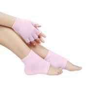 Moisturise Foot Heel Socks Hand Gloves Health Beauty Gel Spa Skin Care Gift Set - Pink