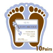 Pack of 10, Korean Beauty Cosmetics Premium Foot Care Pack Moisturising Socks for Moisturising and Nutrients