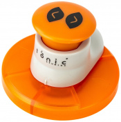 Tonic Studios 981E Duo Corner Punch-Slit Rounder, White/ Orange