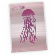 CraftStar Mauve Stinger Jellyfish Stencil (22 x 11 cm) - Reuseable Craft Home Decor Stencil