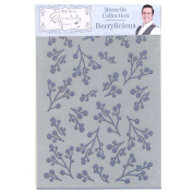 Phill Martin Sentimentally Yours Festive Collection A5 Stencil - Berrylicious