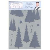 Phill Martin Sentimentally Yours Festive Collection A5 Stencil - Fir Trees