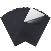Caydo 10 Pieces Black Adhesive Back Felt Sheets Fabric Sticky Back Sheets, 21cm by 30cm (A4 Size), Self-Adhesive, Durable and Water Resistant, Multi-purpose for Art and Craft Making